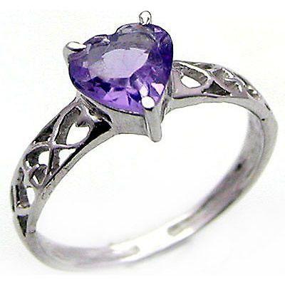 Heart Ring .925 Sterling Silver Amethyst Citrine Blue Topaz Peridot Garnet R450S