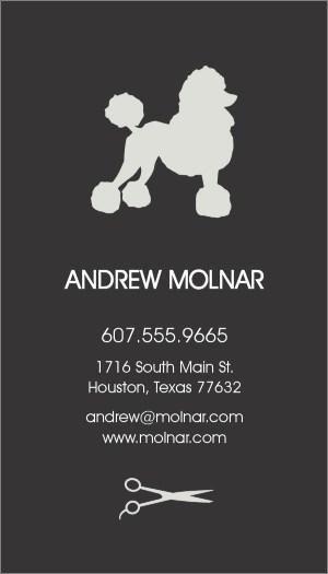 123print Pets Animals Business Card Design Posh Poodle