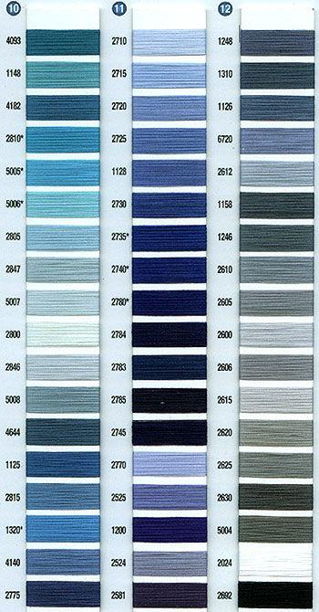 Aurifil thread cotton color chart quilts pinterest colour