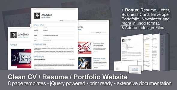 Best Resume Website Templates Cv  Portfolio  Responsive Resume  Portfolio Website Template And .