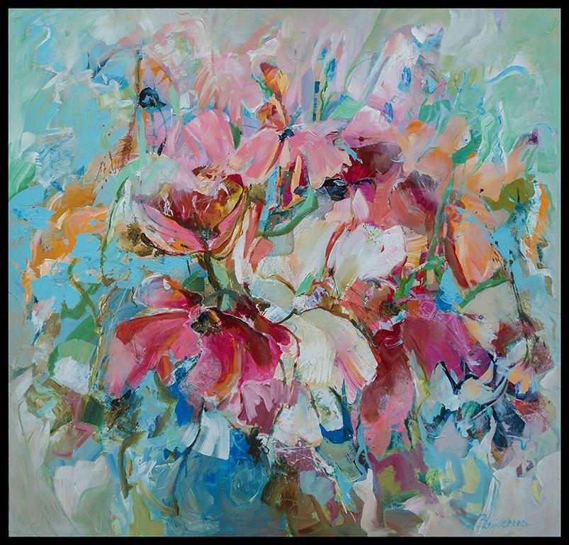 Bernadette leijdekkers recent werk schilderijen for Schilderijen van bloemen