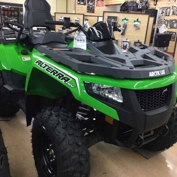 New 2017 Arctic Cat ALTERRA TRV 500 ATVs For Sale in North Carolina. 2017 Arctic Cat ALTERRA TRV 500, 2017 Arctic Cat® Alterra TRV 500 XT Features may include: 500 H1 4-Stroke Engine With EFI This potent 443cc, SOHC, liquid-cooled single-cylinder engine delivers smooth, consistent acceleration. Electronic fuel injection enables a wide torque curve and effortless power delivery by constantly tuning the engine for any temperature, elevation and humidity. Ride-In Suspension Double A-arms…