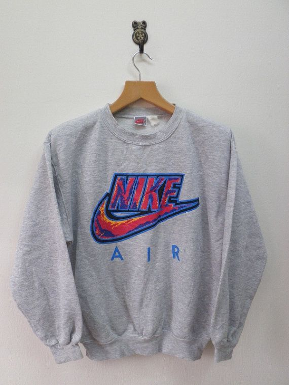 72c8995c82 Vintage 90's Nike Air Swoosh Big Logo Sweat by RetroFlexClothing ...
