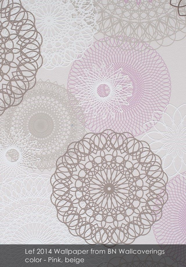 Lef 2014 wallpaper from BN Wallcoverings in Pink, beige