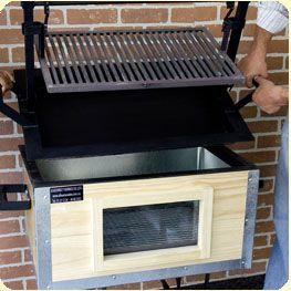 Les gustar a este asador para regalo de cumplea os for Asadores de carne para jardin de ladrillo
