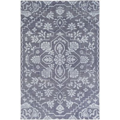 Astoria Grand L'Ermitage Hand-Knotted Blue Area Rug Rug Size: