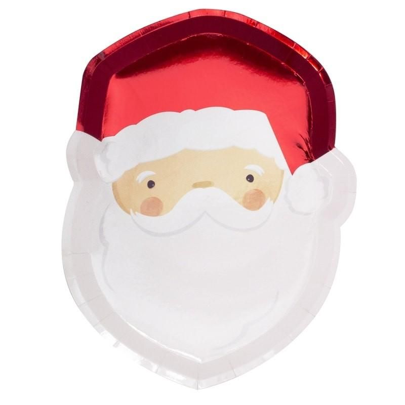 8 Pack of Santa Party Plates