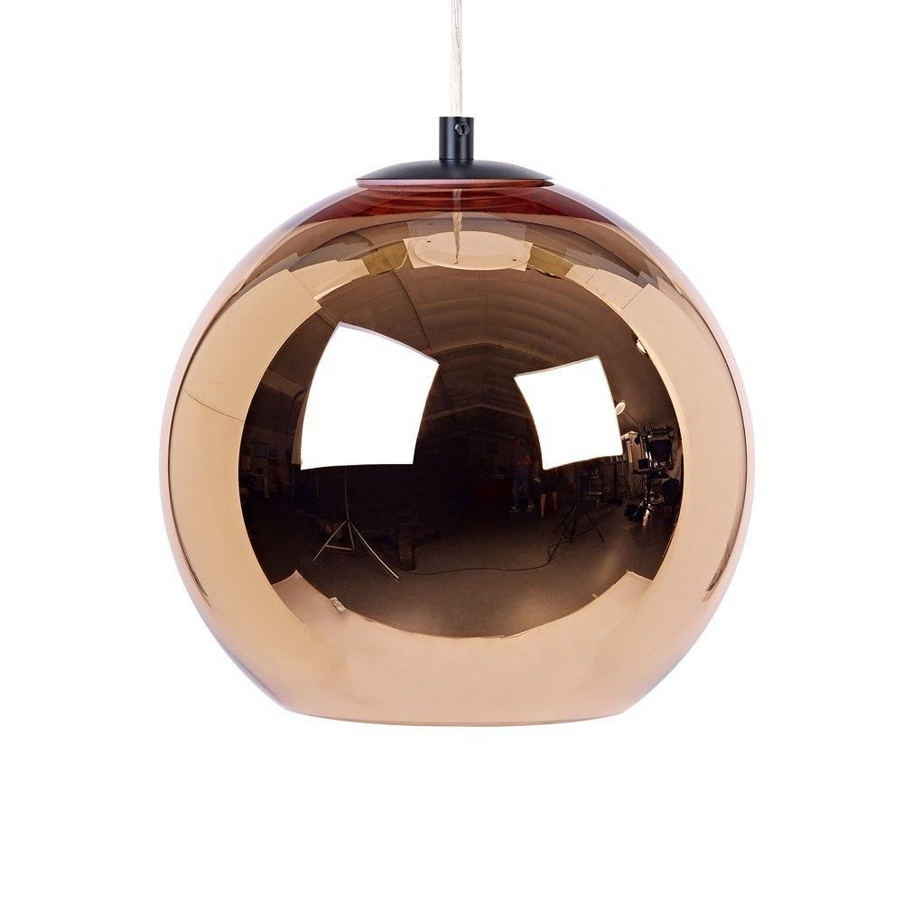 Modern Tom Dixon Copper Mirror Ball Droplight Ceiling Pendant Lamp 7 Sizes - EUR 50