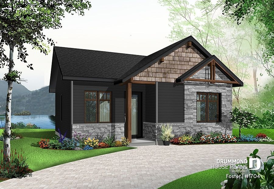 Discover The Plan 1704 Foster Which Will Please You For Its 2 Bedrooms And For Its Modern Rustic Styles Cottage Style House Plans Cottage House Plans Modern House Plans
