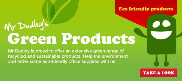 Go Green Environmentally Friendly Office Supplies