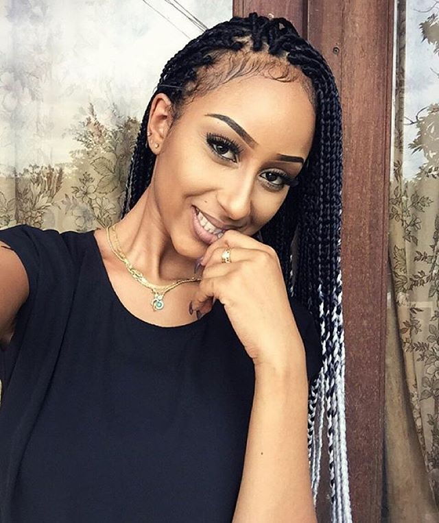 Hairspiration Love These Ombré Boxbraids On Yes Im Beautifull Baby Hair Point Voiceofhair