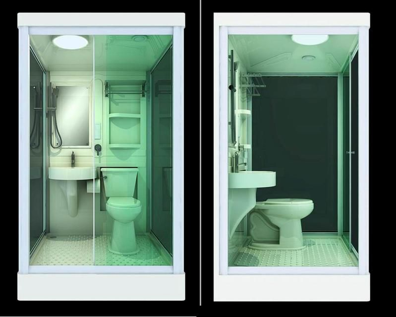 All In One Room all in one shower toilet and sink - google search | tiny bathroom