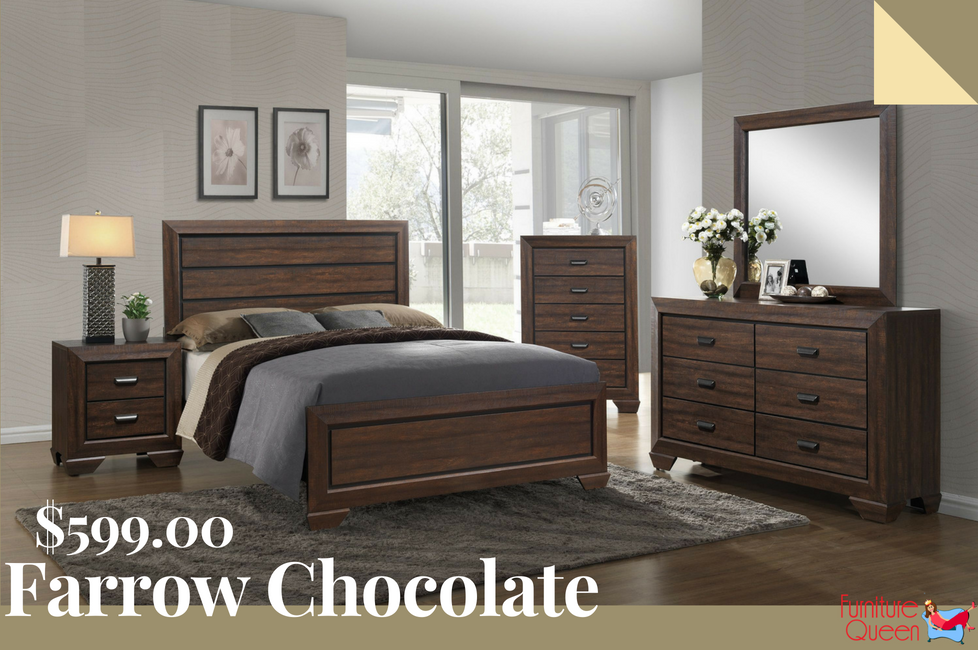 The Farrow Chocolate Bedroom Set Showcases A Warm Earthy Feel With