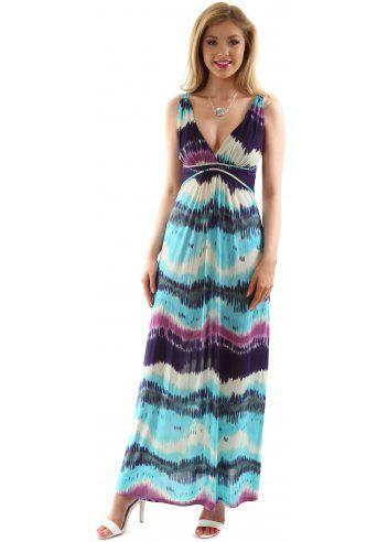 fe93756fa21 Stella Morgan Multi Blue   Purple Striped Sleeveless Maxi Dress ...