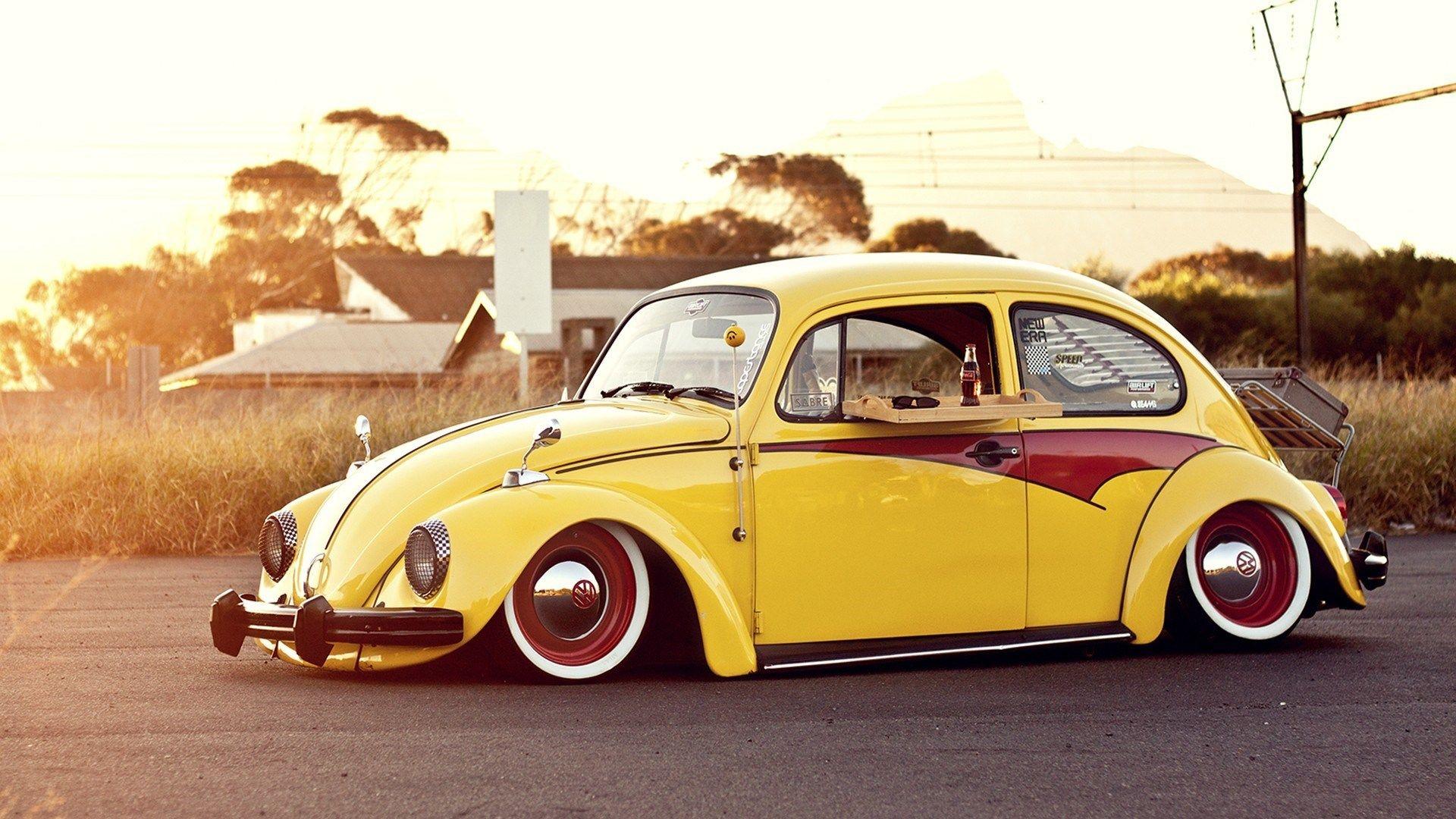Wooden Tray Cola Meal Volkswagen Bug Beetle Classic Hd Wallpaper