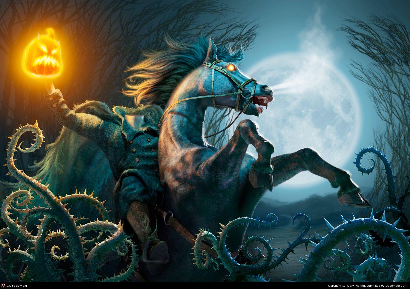 Headless Horseman Wallpaper Wallpapersafari Wallpapersafari Com The Headless Horseman By Gary Hanna 3d Cgs Headless Horseman Horseman Character Design
