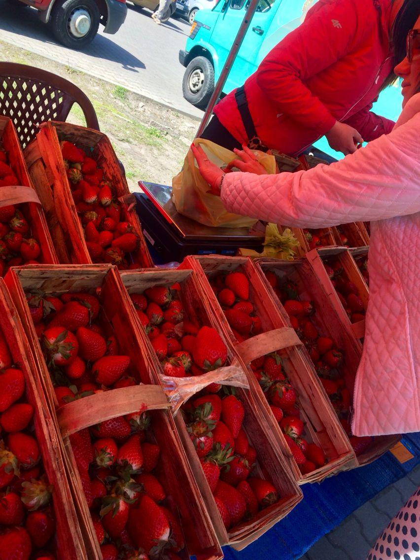 Strawberry market...