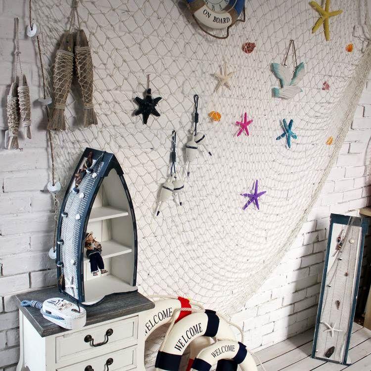 filet de p che pour une d coration marine impeccable fishing net pinterest d coration. Black Bedroom Furniture Sets. Home Design Ideas
