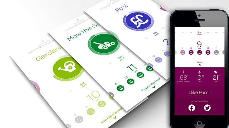 Fresh and Clean LightColored Mobile App Designs Mobile