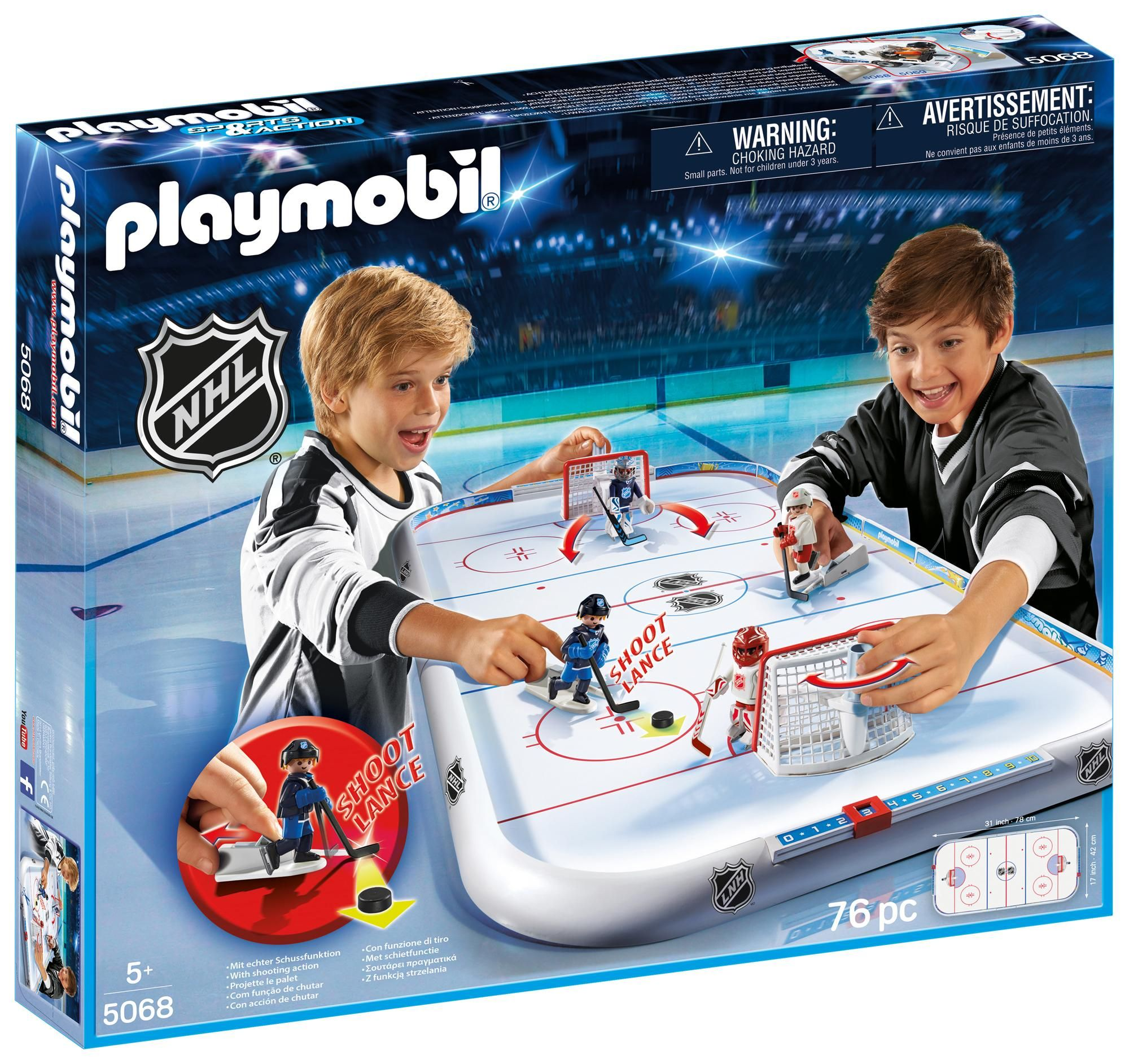 Playmobil Nhl Arena Playset Building Sets Amazon Canada My 7 Year Old Loves This Hockey Arena Nhl Nhl Hockey