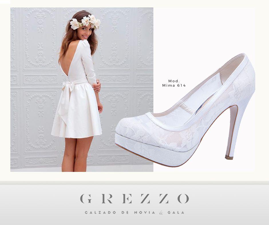 looknupcial para boda civil, zapatos de novia #noviagrezzo | looks