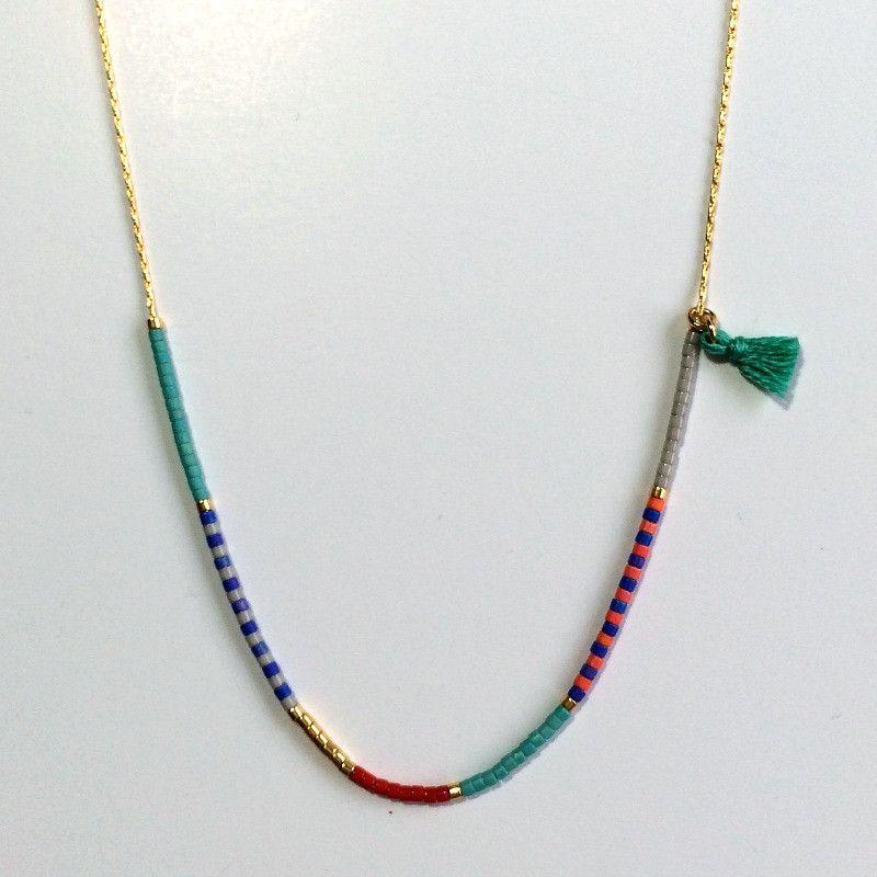collier ras de cou perle couleur