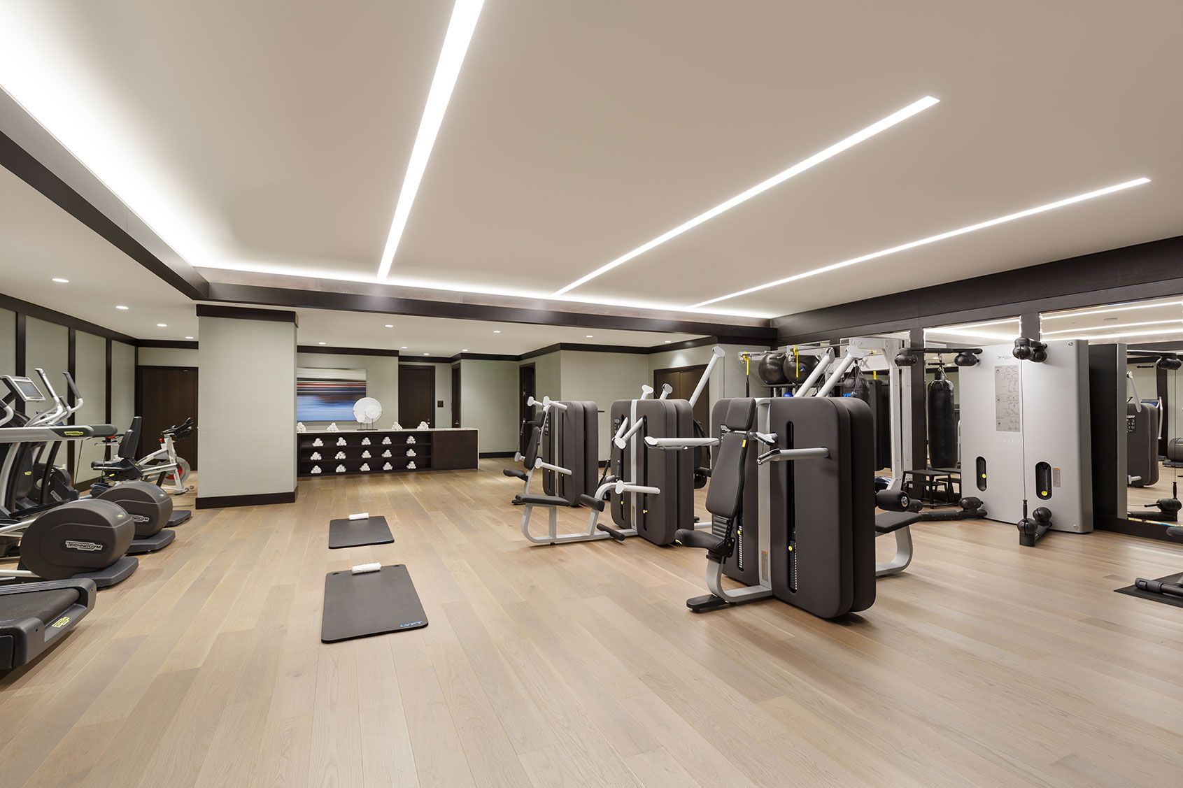 Gym Led Lighting The Pacific Condominium Complex Aion