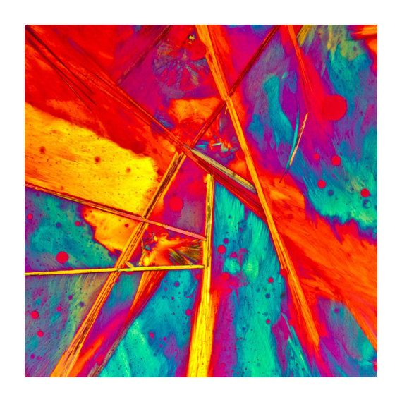 Microscopic Modern Crystal Purple Edge Abstract 7 by ChaseLindberg,