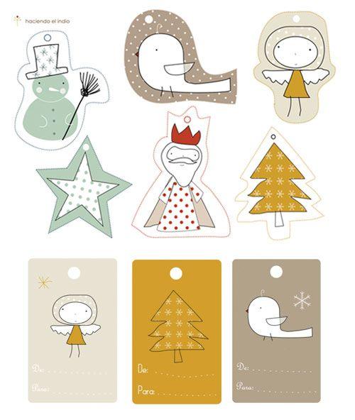Christmas present tags, free printable