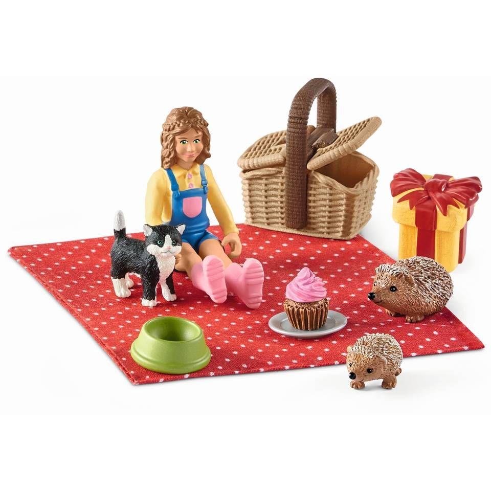 Verjaardag Picnic Schleich 42426 Boerderijdieren Baby Egels Verjaardag