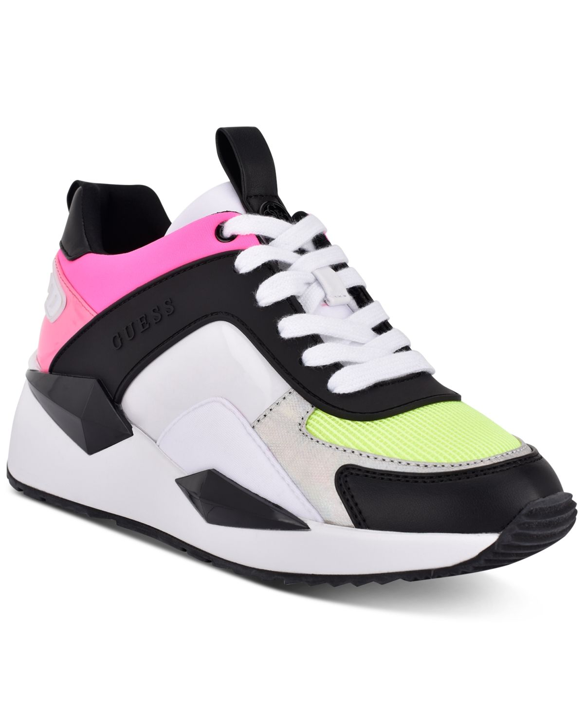 Guess Women's Typical Lace Up Sneakers Neon in 2020