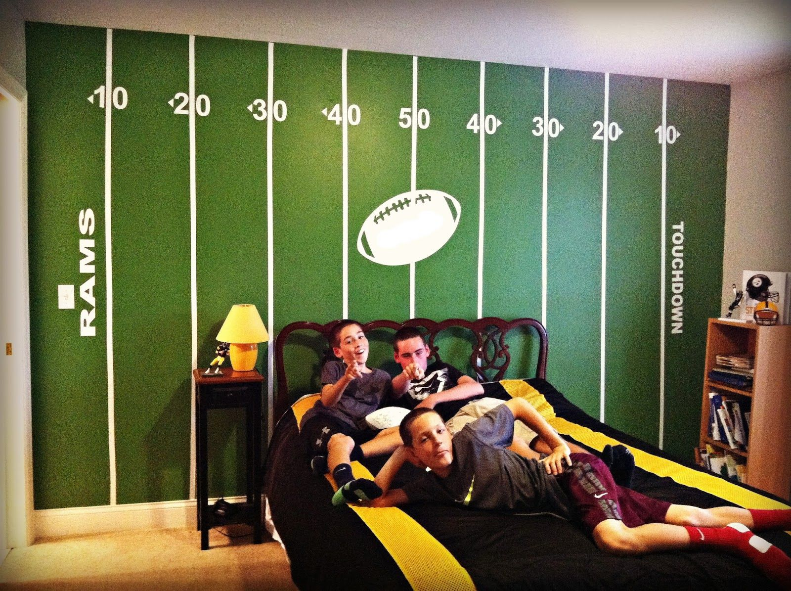 Football Field Painted On Wall Google Search Wall