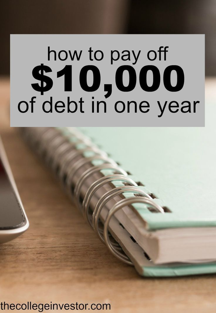 Paying off debt can feel overwhelming if you don't where to start. Here's how to pay off $10,000 of debt in one year - step by step. via /collegeinvestor/