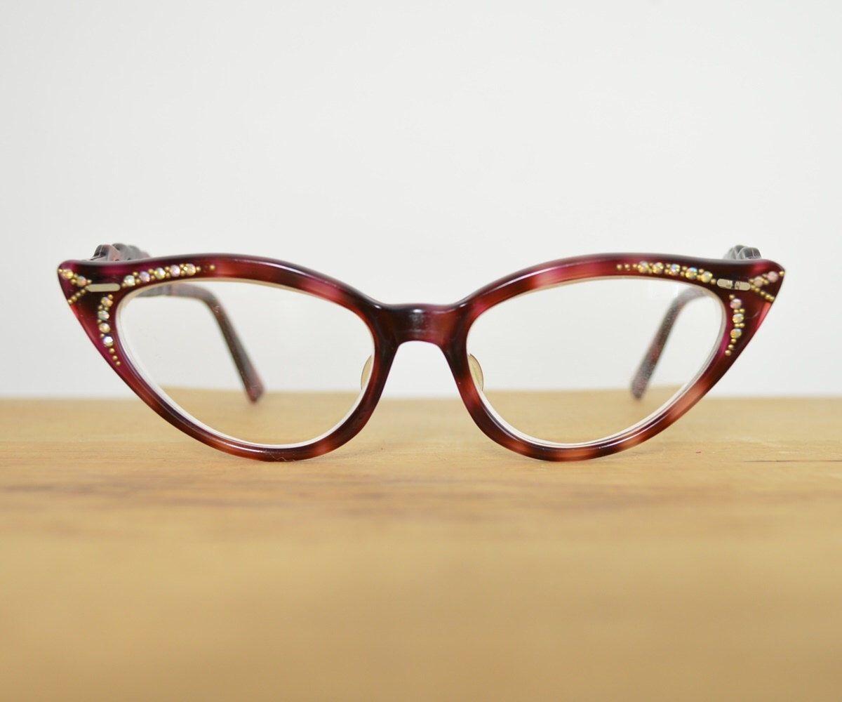Cat Eye Glasses Vintage Glasses Frames Womens Designer