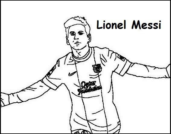 Lionel Messi Coloring Printable Page Sport Coloring Page