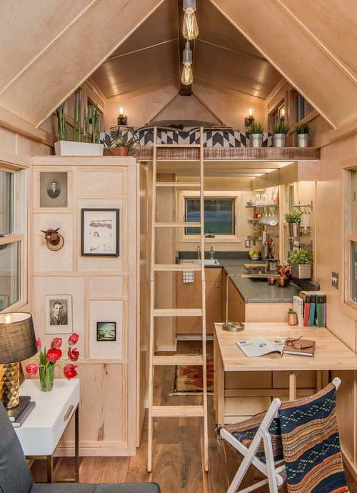 Gorgeous Tiny House Is Inspired By Scandinavian Design Small Tiny House Tiny House Listings Tiny House Interior