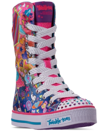 Skechers Little Girls Twinkle Toes Twinkle Lite Pocket Party
