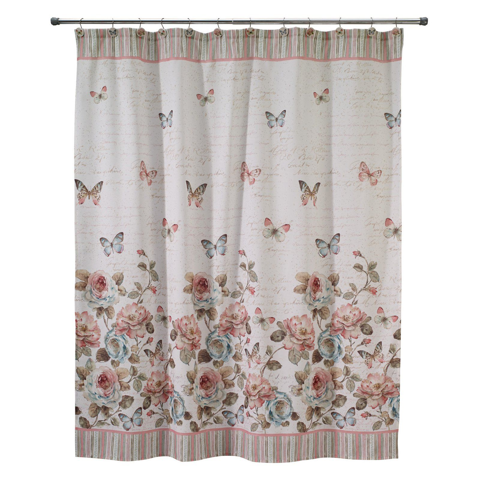 Avanti Butterfly Garden Shower Curtain Butterfly Shower Curtain