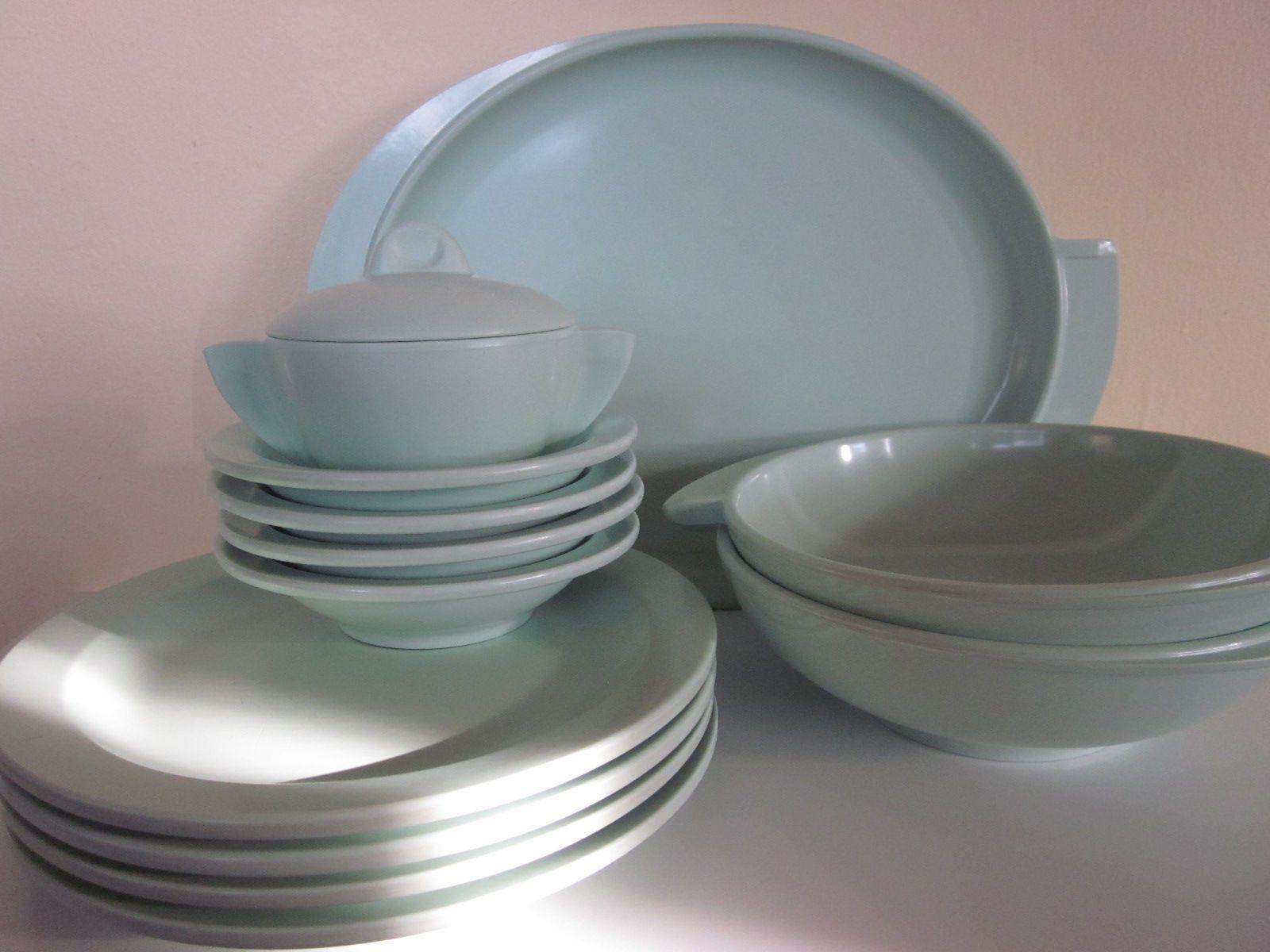modern dishware - mid century modern dishware set flea market wants