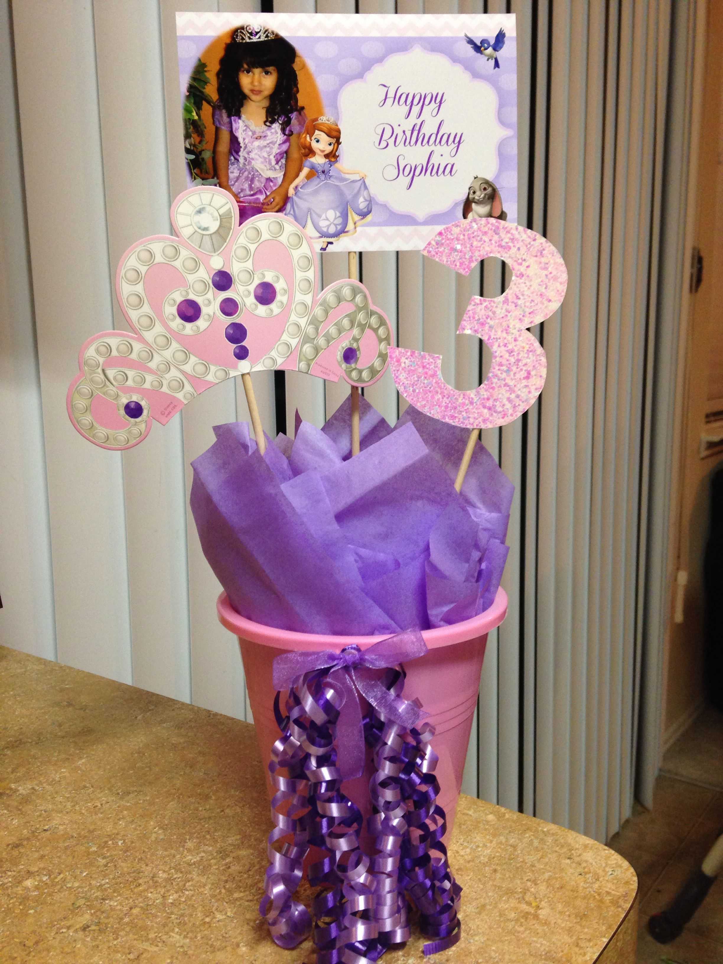 Princess Sofia the First centerpiece & Princess Sofia the First centerpiece | Party ideas | Pinterest ...
