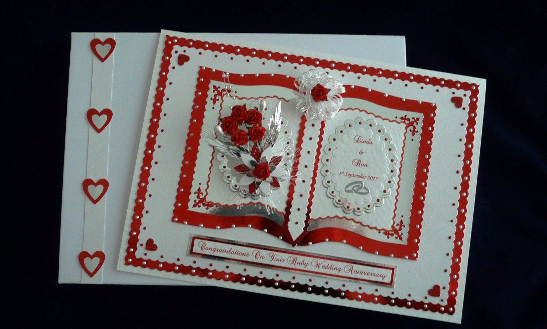40th Ruby Wedding Anniversary Card For Wife Husband Mum Dad