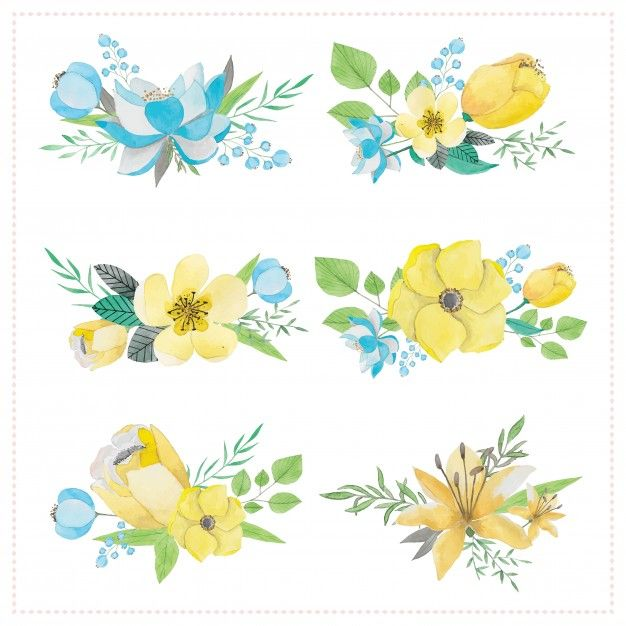 Download Yellow Flowers For Free Watercolor Flower Vector