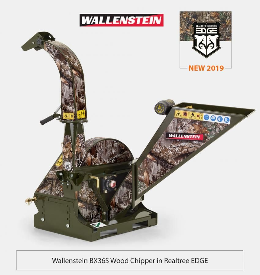 56d781454 Wallenstein BX36S Wood Chipper in Realtree EDGE Wood Chipper