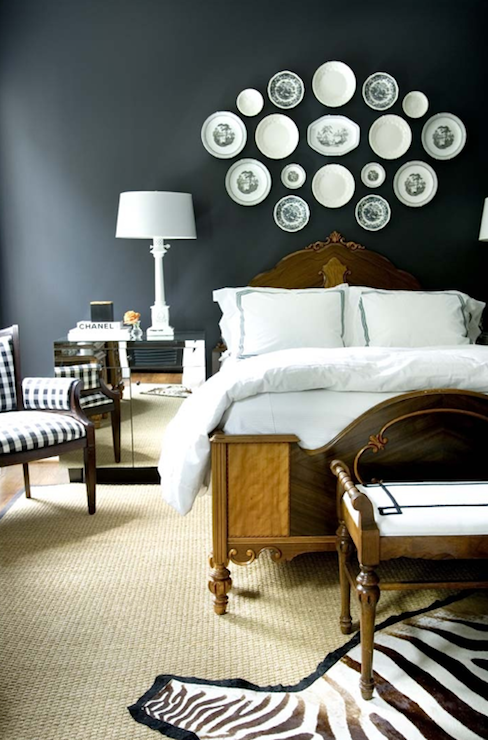 Fine Courtney Giles A Bold Bedroom Design With Black Walls Antique Largest Home Design Picture Inspirations Pitcheantrous