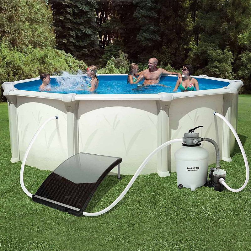 Blue Wave Solarcurve Solar Heater For Above Ground Pools Solar Pool Heater Pool Heater Solar Pool