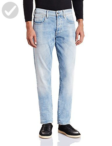 e18fda82a66 G-Star Raw Men's 3301 Tapered Fit Jean In Nippon Stretch Denim, Light Aged,  38x32 - Mens world (*Amazon Partner-Link)