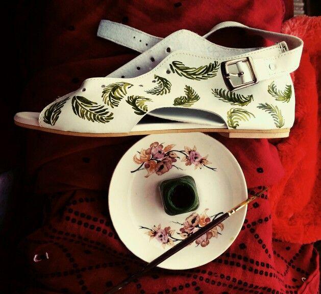Shoes print#painted#DIY