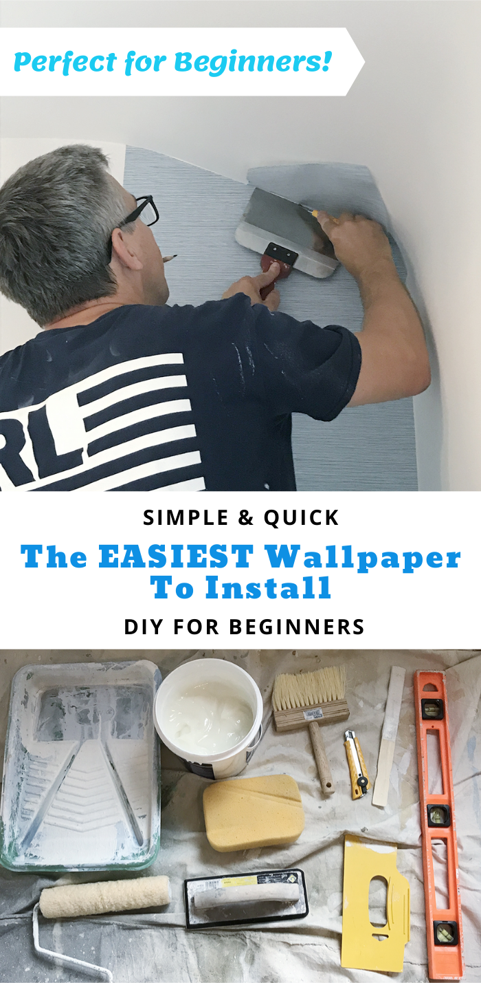 Rambling Renovators The Easiest Wallpaper To Install For Beginners In 2020 How To Hang Wallpaper Simple Wallpapers How To Install Wallpaper