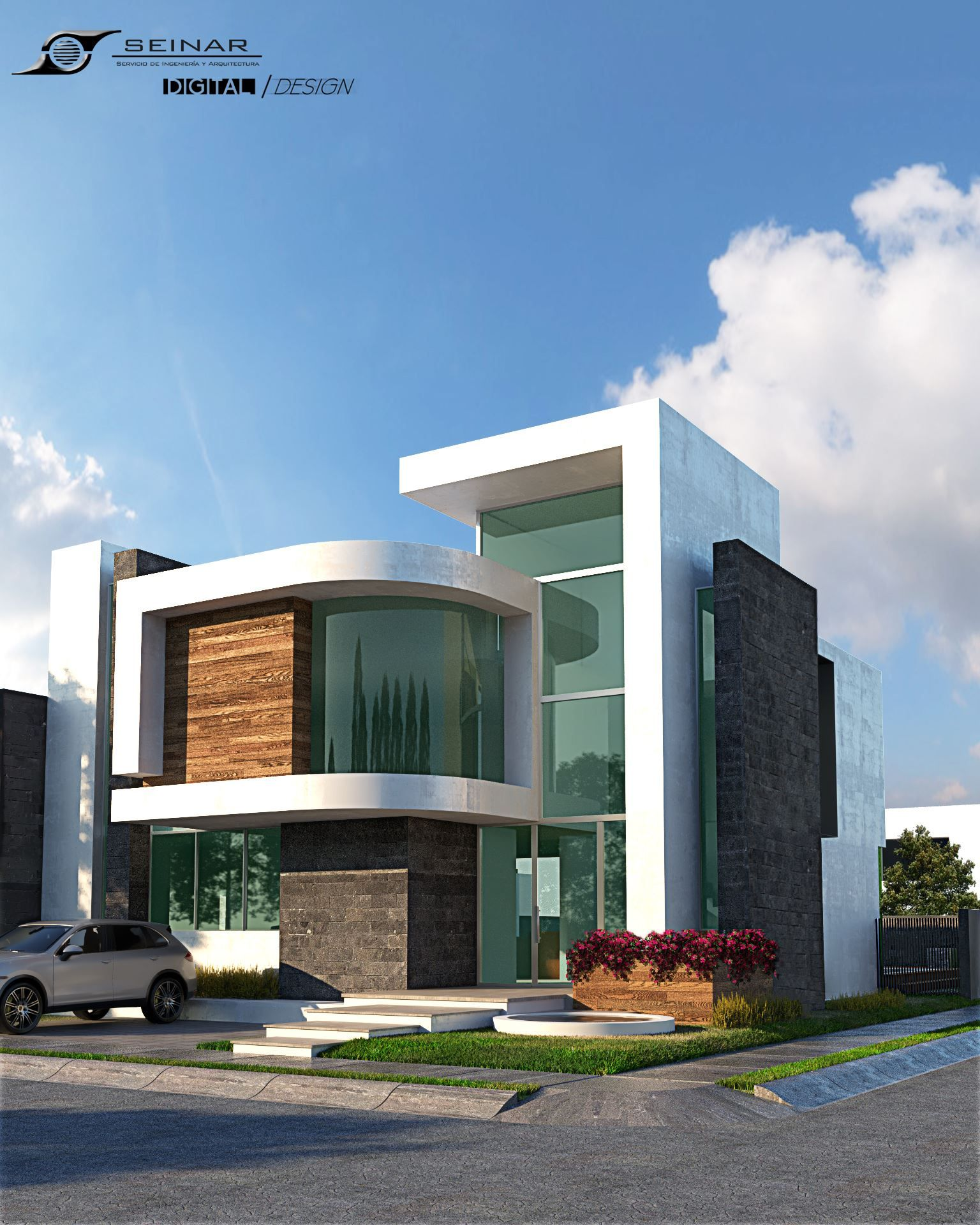 Modern design aquarius house by seinar construccion mexico for Disenos de casas mexicanas
