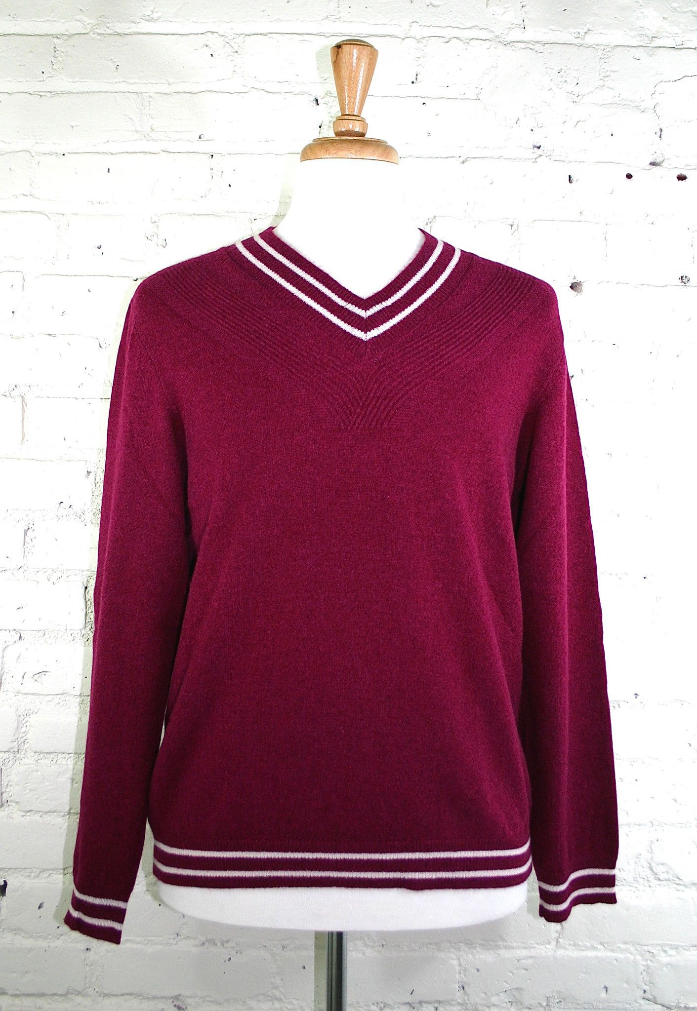 St. Charles Cashmere Sweater - Burgundy | Products | Pinterest ...